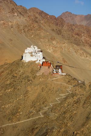 gompa: Namgyal Tsemo Gompa, buddhist monastery in Leh, Ladakh, India Stock Photo