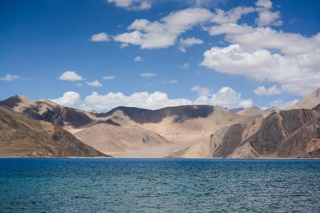 salt water: Pangong Lake (Pangong Tso) ,the highest salt water lake in the world at Ladakh, India