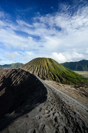 active volcano: Crater rim of active volcano Gunung Bromo in Java Indonesia