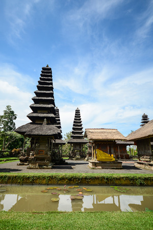 places of interest: Taman Ayun Temple Pura Taman Ayun is a royal temple of Mengwi Empire located in Mengwi Badung regency that is famous places of interest in Bali. Stock Photo