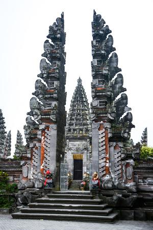 ulun: Batur Temple Pura Ulun Danu Batur in Bali Indonesia. One of the most important temples in Indonesia Stock Photo