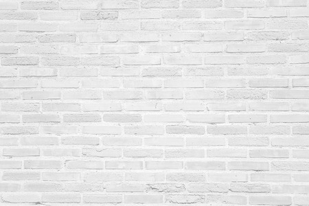 pared rota: Textura blanca de la pared de ladrillo del grunge o patrón para el fondo
