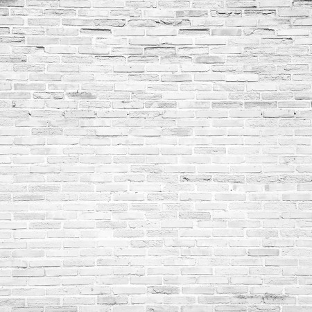 白グランジのれんが造りの壁のテクスチャや背景のパターン 写真素材