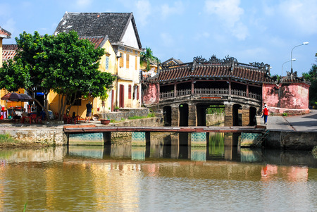 japanese bridge: HOI AN, VIETNAM - OCTOBER 24, 2012 - View of an ancient Japanese Bridge. Hoi An is the Worlds cultural heritage and famous attraction in Vietnam Editorial