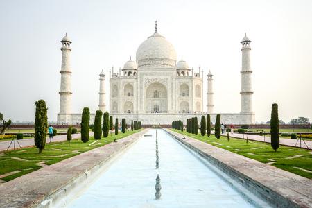 Taj mahal, A famous historical monument and landmark in Agra, India