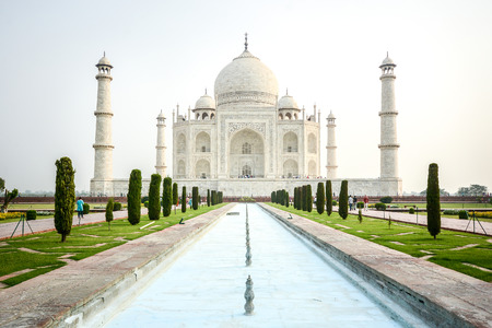Taj mahal, A famous historical monument and landmark in Agra, India