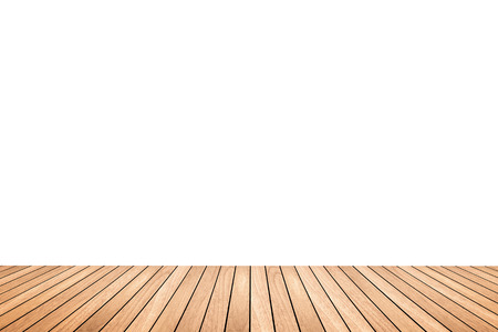 white wood floor: Brown wood floor texture isolated on white background for copy space