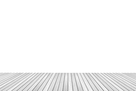 white wood floor texture isolated on white background for copy space