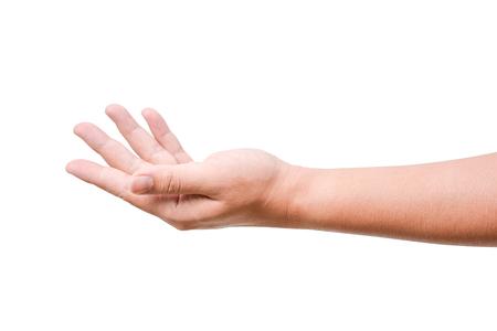 empty open man hand isolated on white background Zdjęcie Seryjne - 44974255
