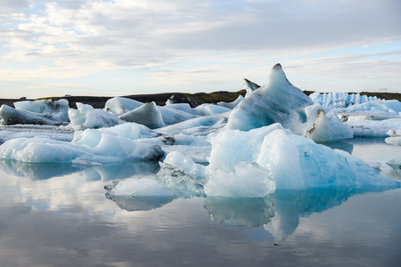 southeast europe: Iceberg in Jokulsarlon glacier lagoon, Southeast Iceland. Icebergs originating from the Vatnajokull, the biggest glacier in Europe