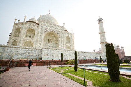 monument in india: Taj mahal, A famous historical monument and landmark in Agra, India