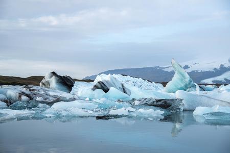 iceberg: Iceberg in Jokulsarlon glacier lagoon in Iceland. Icebergs originating from the Vatnajokull, the biggest glacier in Europe