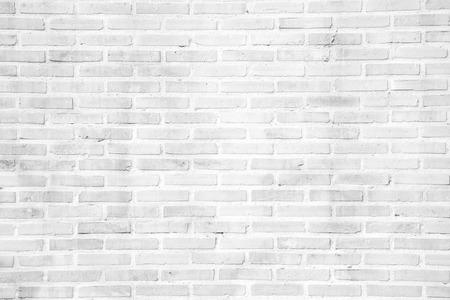 White grunge brick wall texture or pattern for background and material concept
