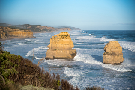 The Twelve Apostles near Great Ocean Road, natural landmark and tourist attraction of Victoria, Australia Stock Photo