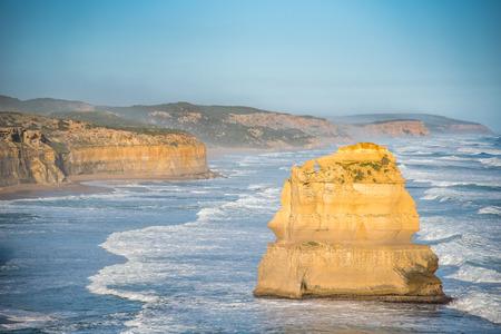 The Twelve Apostles near Great Ocean Road, natural landmark and tourist attraction of Victoria, Australia Stock Photo