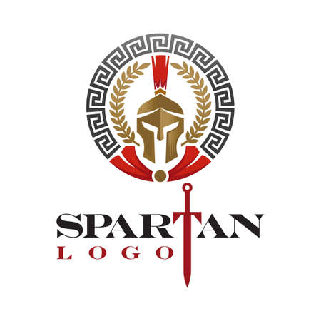 helmet spartan concept with modern style. suitable for all businesses.