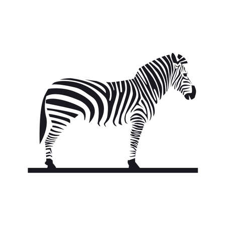 zebra ,illustration, tamplate , animals, vector