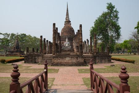 pus: Storico di Sukhothai in Thailandia, questo s storico di Sukhothai e Centro Informazioni della Thailandia Archivio Fotografico