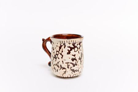 coffeecup: Vintage coffee cup, This s brown coffee cup vintage style