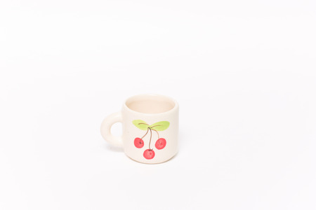 coffeecup: Cherry coffee cup, This s white Cherry coffee cup  Stock Photo