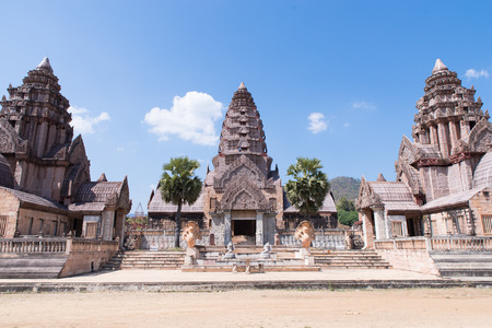pus: This s copy Cambodia castle at Cheangmai Thiland Stock Photo