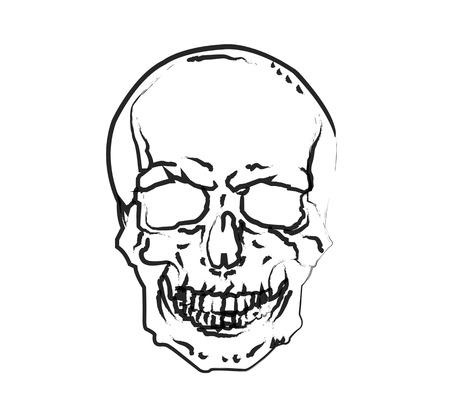 symbolism: Skull symbolism of death Illustration