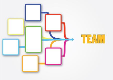 Blank frame for team work business Vector