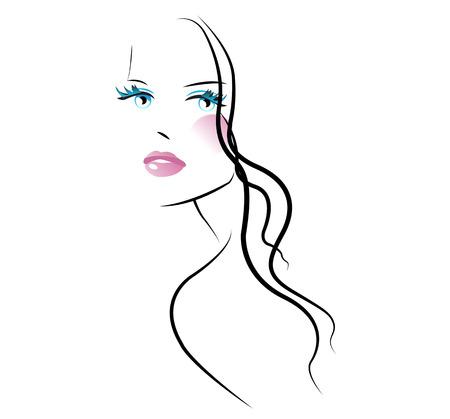 maquillaje de ojos: Salón de belleza Vectores