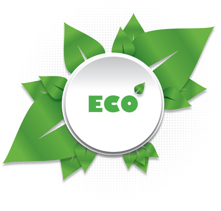 Green nature eco background Vector