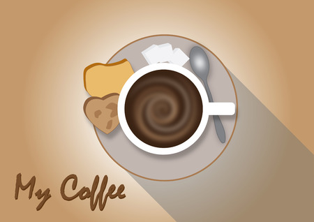 cappucino: Hot mocha coffee background or clipart or vector
