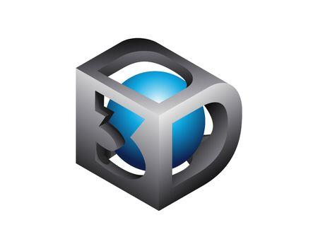 3d: 3D logo