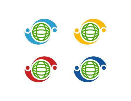 globe logo: Globe logo Illustration