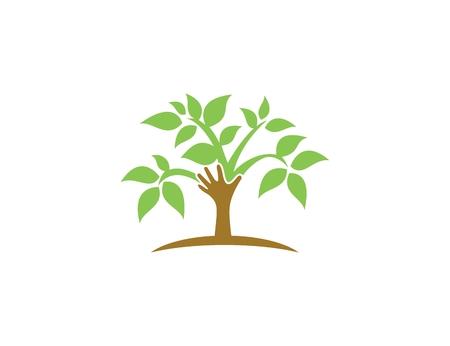 tree logo: Tree hand logo