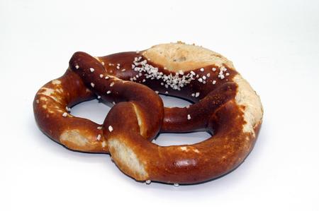 German pretzel pretzel isolated on white background 스톡 콘텐츠