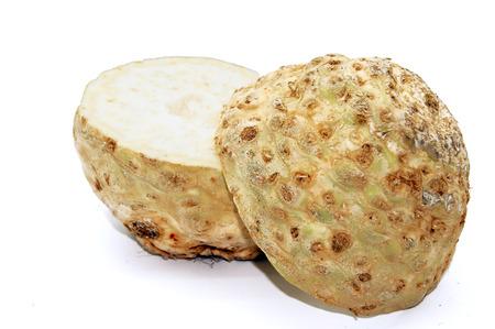 Celery head Apium isolated on white background 版權商用圖片 - 111677599