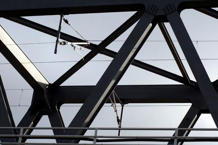 Railway bridge Steel structure over the Elbe