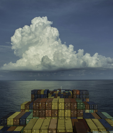 Container ship on the sea Editorial