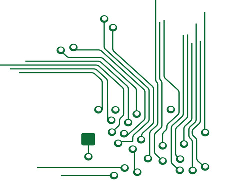 circuitry: Circuit Board Illustration Illustration