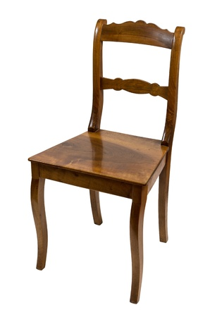 seating furniture: antique chair made of cherry wood from the Biedermeier time