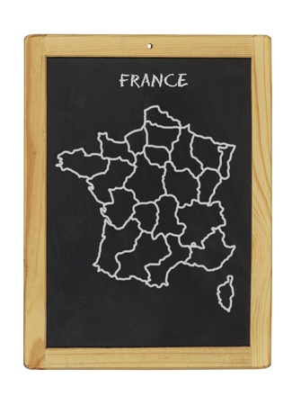 map of france on a chalkboard photo