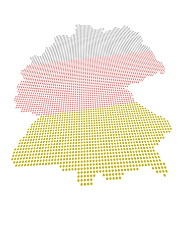 Perspectively distorted map of Germany with a point grid Stock Photo - 14600223