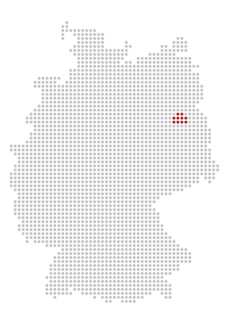 rasterized:  map of germany with a dot grid