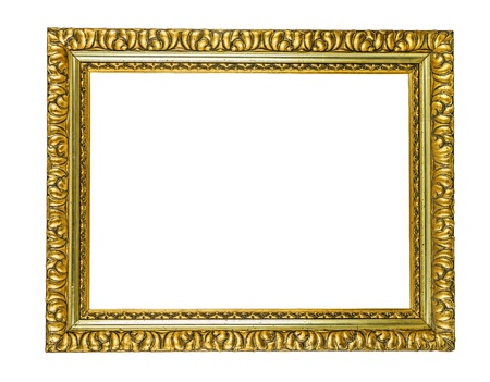 antique golden picture frame  photo