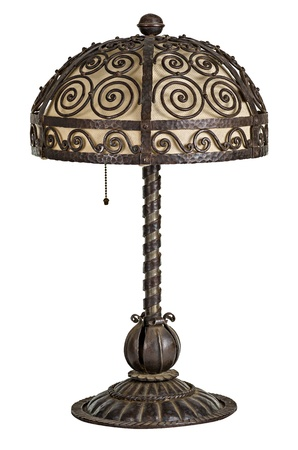 floor lamp: Handforged antique art nouveau table lamp