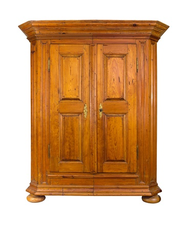 baroque furniture: baroque wooden cabinet Stock Photo