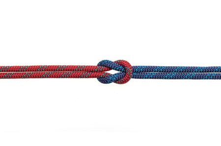 tied knot: reef knot