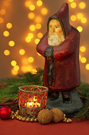Christmas decoration with Santa Claus Figurine photo