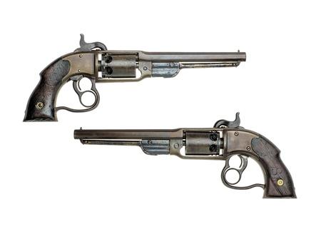 muzzleloader: antique american Savage percussion revolver
