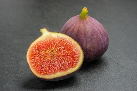 purple fig: figs on slate plate