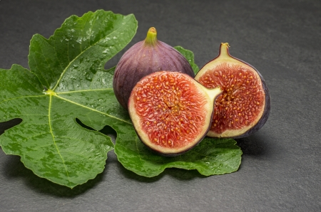 purple fig: figs on slate plate